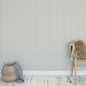 Szara tapeta na ścianę - aranżacja