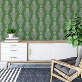 Zielona tapeta w marokańskim stylu
