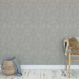 Srebrna tapeta błyszcząca mozaika do łazienki