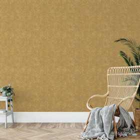 Połyskująca tapeta złote w mozaikę flizelinowa