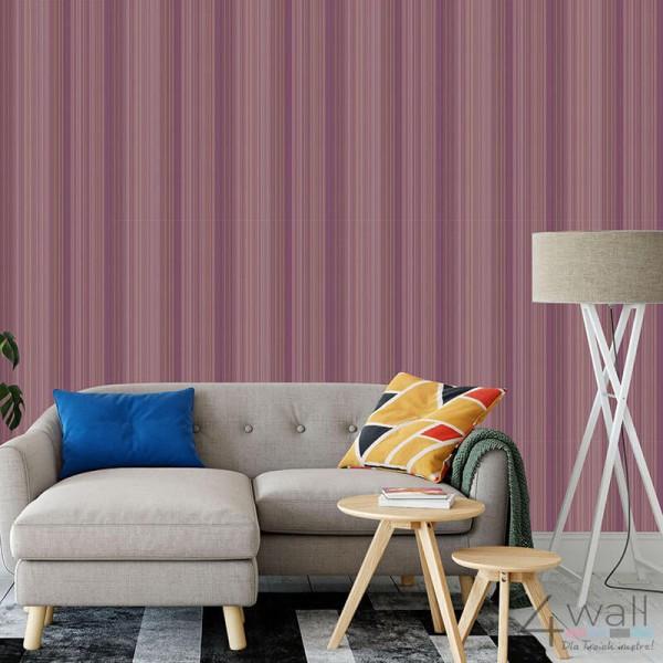 Fioletowa tapeta na ścianę w paseczki