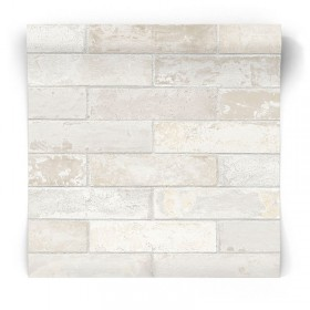 Tapeta w białe cegły LL29532