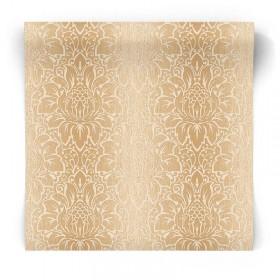 Brązowa tapeta glamour w ornament TX34821