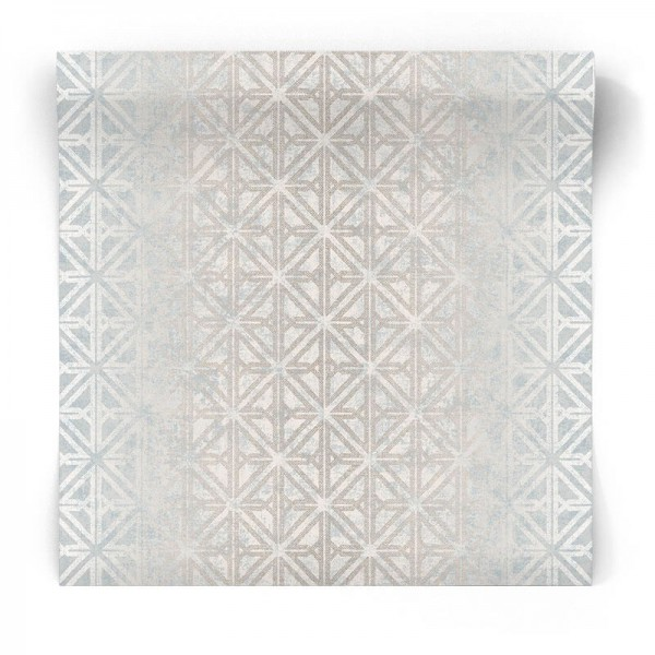 Srebrna tapeta geometryczna TX34840