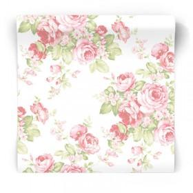 Tapeta w różowe kwiaty AB27612