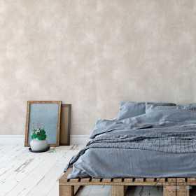 Tapeta ścienna imitacja betonu architektonicznego aranżacje sypialni w stylu loft