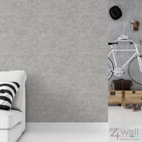 Szara tapeta imitacja beton aranżacje