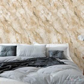Brązowa tapeta na ścianę imitująca kamień
