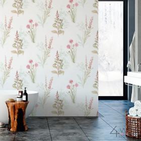 Tapeta do łazienki z motywem roślinnym