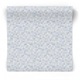 Tapeta w niebieska mozaikę G67419