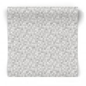 Tapeta w szarą mozaikę G67420