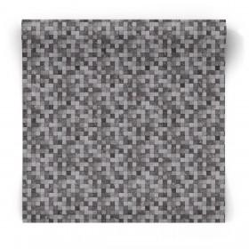 Tapeta w ciemną mozaikę G67422
