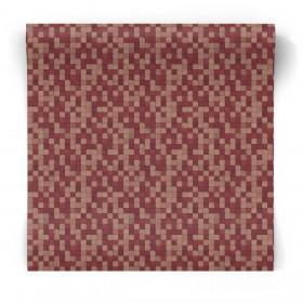 Tapeta w czerowną mozaikę G67424