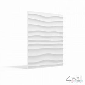 Panel ścienny 3D fale gipsowy