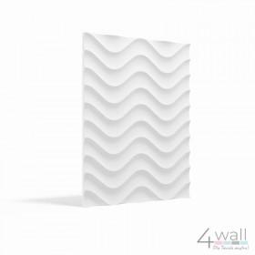 Panel ścienny 3D wzór: Fale gipsowy