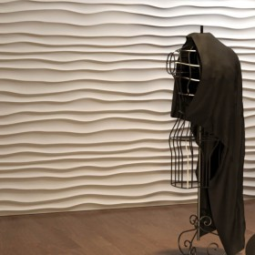 Panel ścienny fale gipsowe 3D