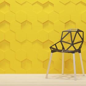 Panel ścienny 3D plastry miodu aranżacje ozdobne