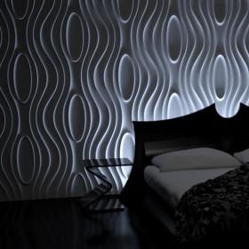 Panele ścienne 3D w zygzaki na ścianę dekoracyjne
