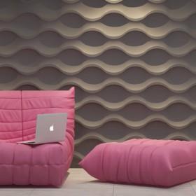 Panel dekoracyjny na ścianę 3D w fale Dunes Sinus