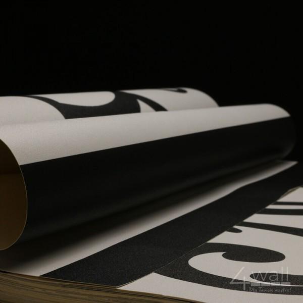 Tapeta w pasy czarno białe wąskie do przedpokoju winylowa