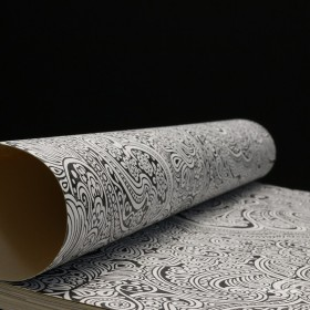 Nowoczesna tapeta mandala czarno biała drowny wzór w stylu glamour