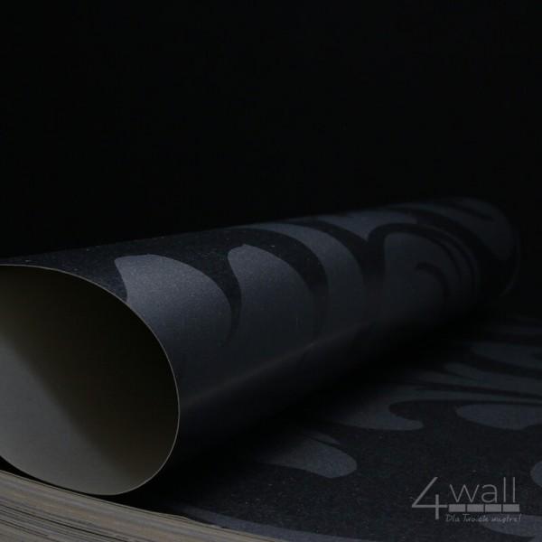 Czarna tapeta na ścianę glamour
