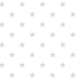 Tapety ścienne w gwiazdki - szara gwiazdka na białym tle