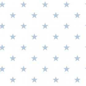 Tapety ścienne w gwiazdki - niebieskie gwiazdki na białym