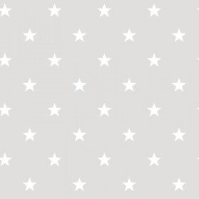 Tapety w białe gwiazdki na szarym tle do pokoju dziecka