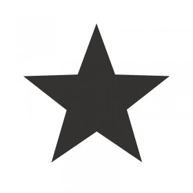 Tapety w duże czarne gwiazdki na białym tle