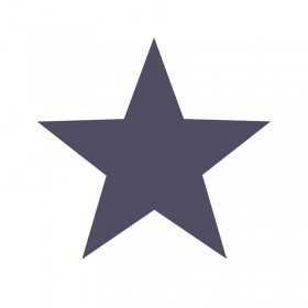 Tapety w duże granatowe gwiazdki na białym tle