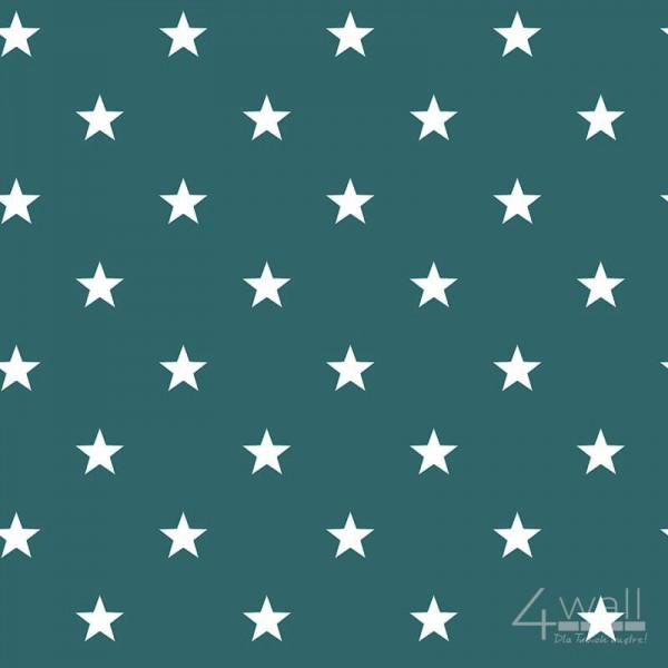 Zielona tapeta w gwiazdki G23349