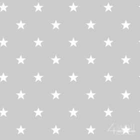 Szare tapety w białe gwiazdki dla nastolatka do pokoju