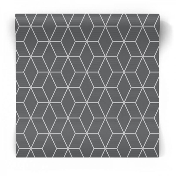Tapeta 3D Grey Prism geometria 101315