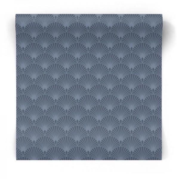 Granatowa tapeta geometryczna 101366