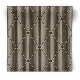 Czarno złota tapeta geometryczna 105986