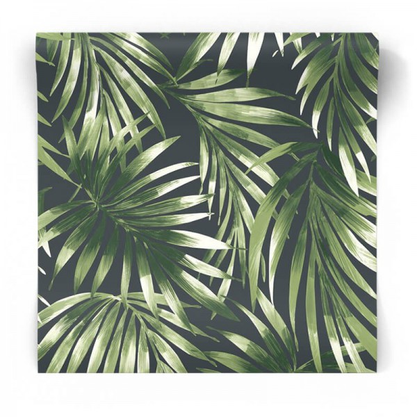 Tapeta w tropikalne liście palmy 106413