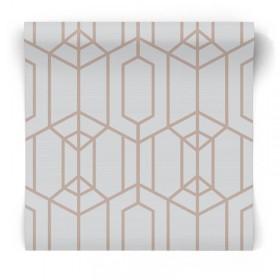 Tapeta 3D w złote wzory 106582