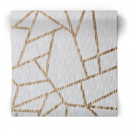 Złota tapeta geometryczna 106597