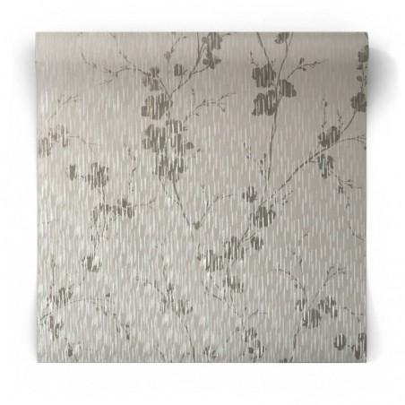 Połyskująca tapeta w kwiaty 106602