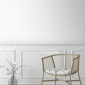 Tapeta w tłoczony wzór geometryczny - aranżacja salonu