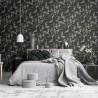 Aranżacje salonu - tapeta w stylu japońskim