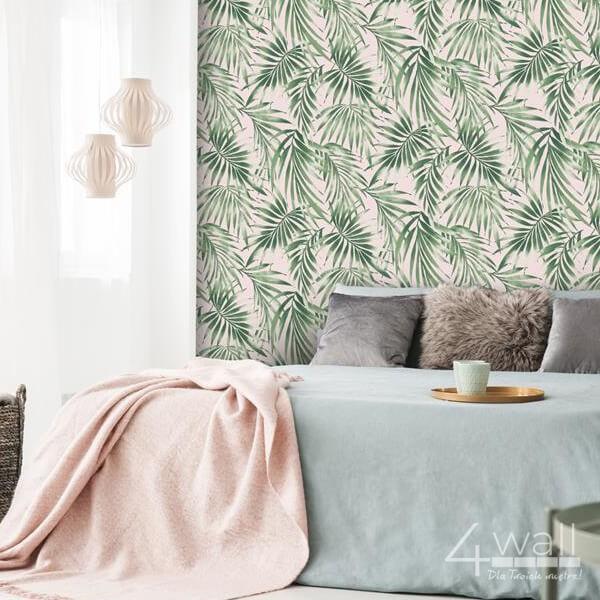Tropikalna tapeta ścienna w palmowe liście