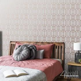 Geometryczna tapeta na ścianę 3D w nowoczesne wzory wykonana z winylu na zmywalnej flizelinie