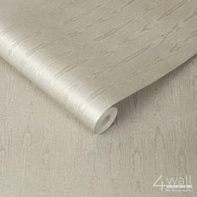 Błyszcząca tapeta w słoje srebrna do sypialni lub salonu