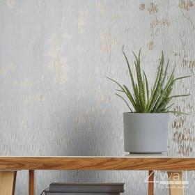 Lasetowa tapeta w błyszczące kwiaty aranżacja pokoju