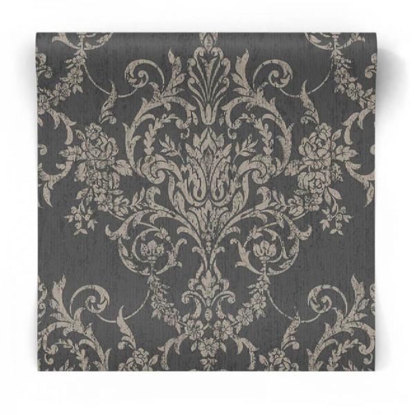 Czarna tapeta w stylu Glamour 103028