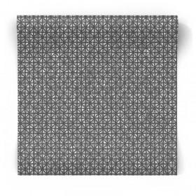 Czarna tapeta w srebrne wzory 3D 104950