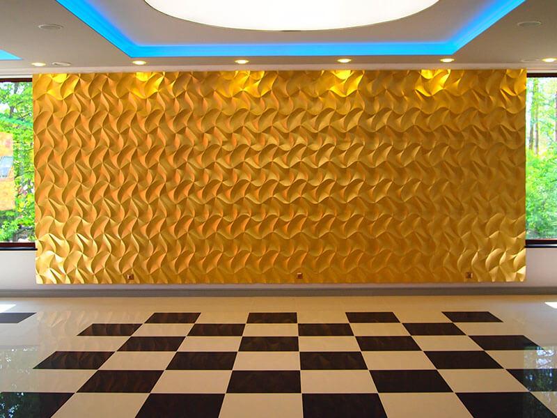 Dekoracyjna złota ściana 3D