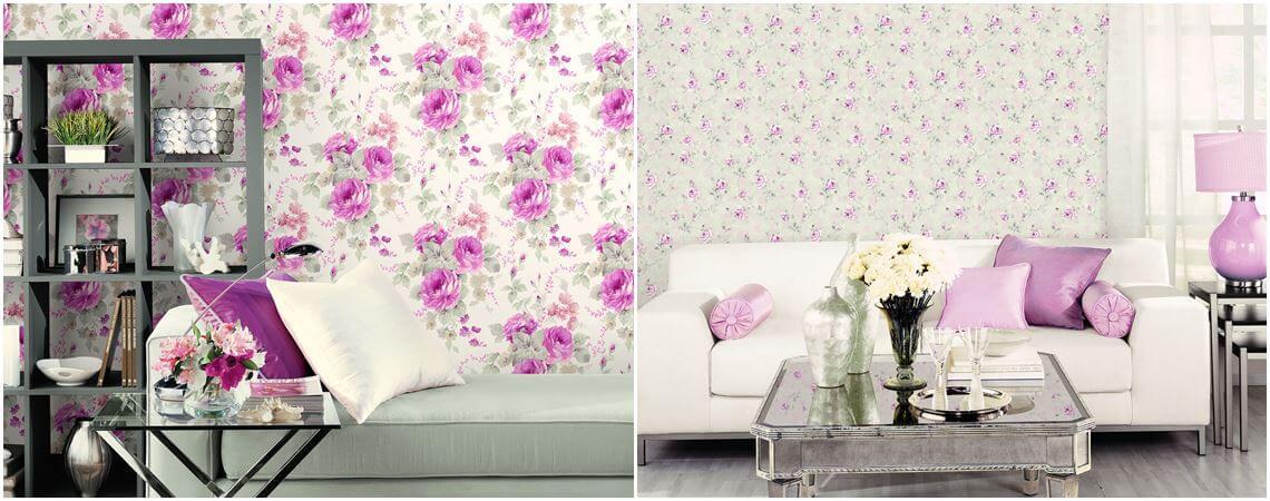 Tapety w kwiaty aranżacje